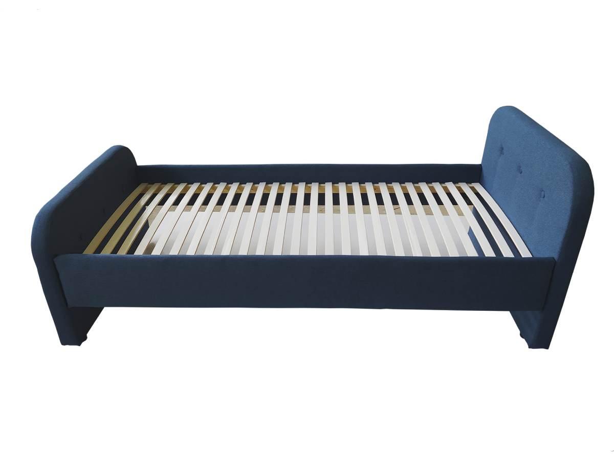 детская кровать тедди синяя ламели