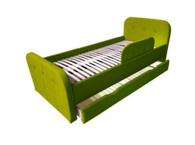 детская кровать тедди зеленая с ящиком