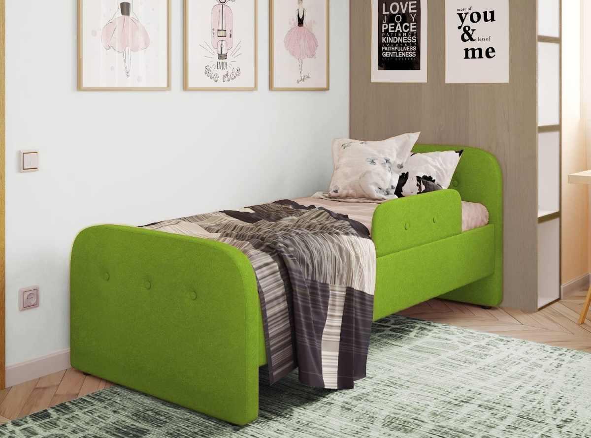 детская кровать тедди зеленая