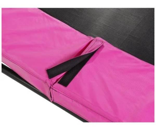 липучка защита на розовом батуте