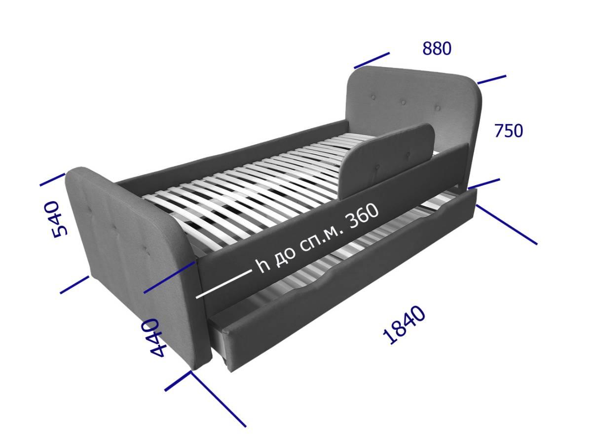 размеры кровати тедди