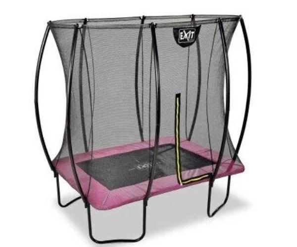 розовый прямоугольный детский батут