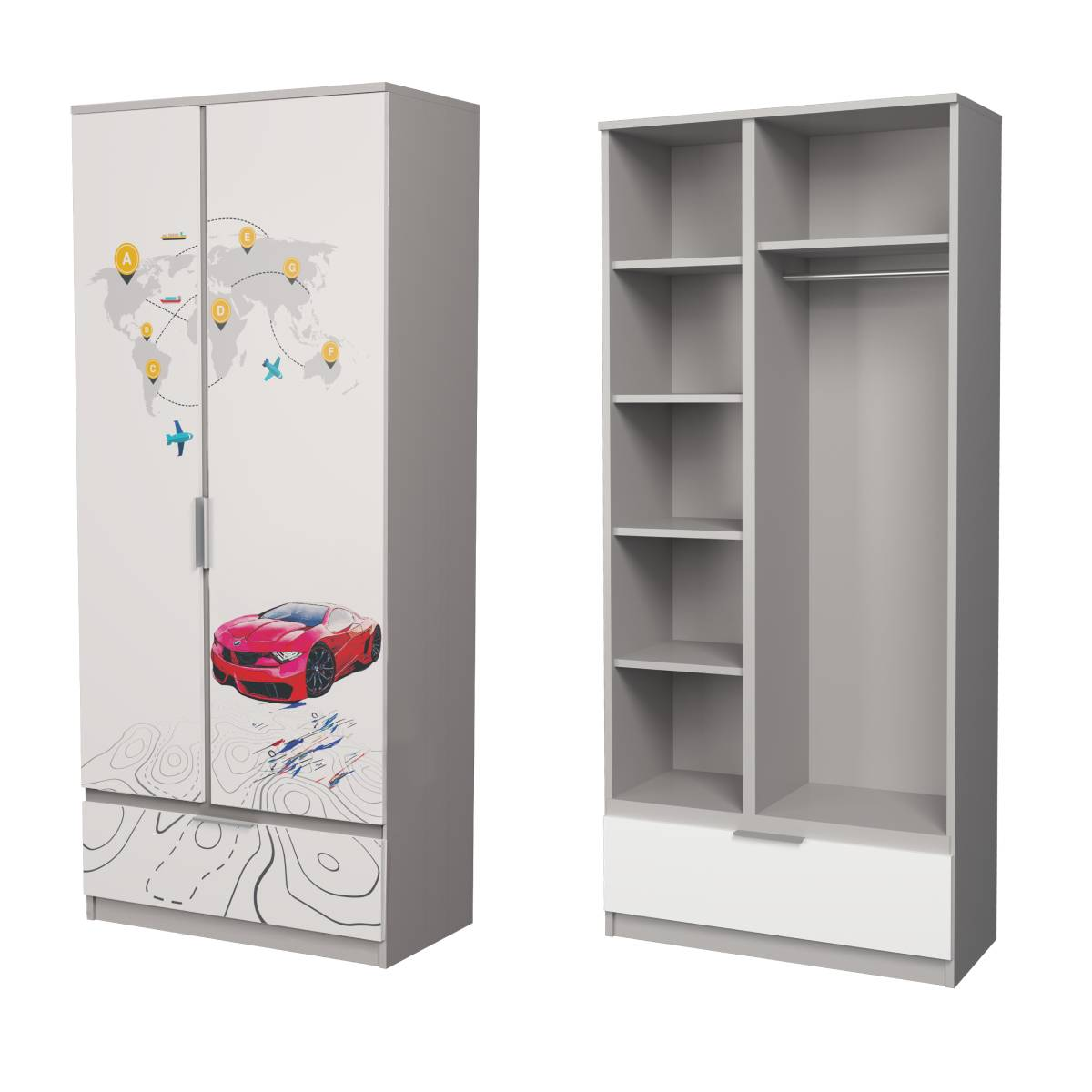Детский шкаф алюминий бмв