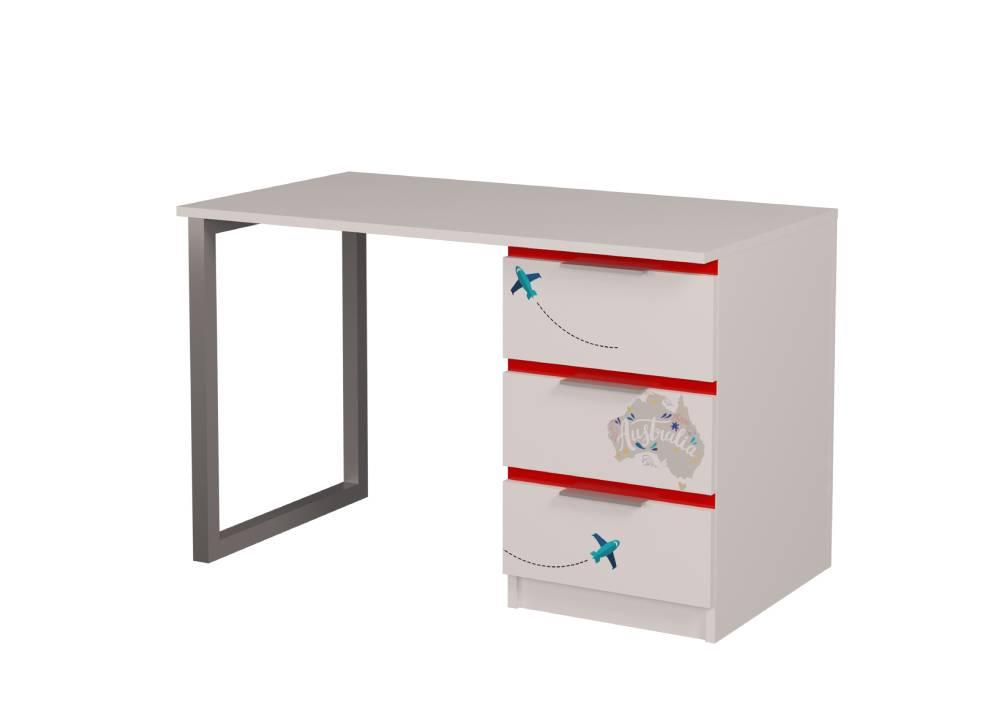 стол письменный детский бмв красный