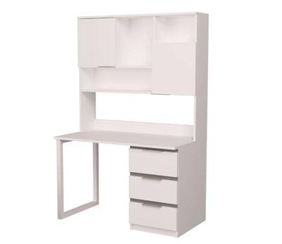 стол письменный детский с надстройкой белый