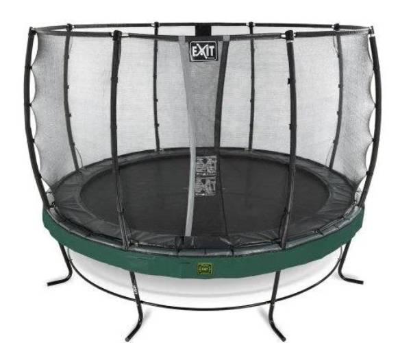 зеленый большой круглый батут