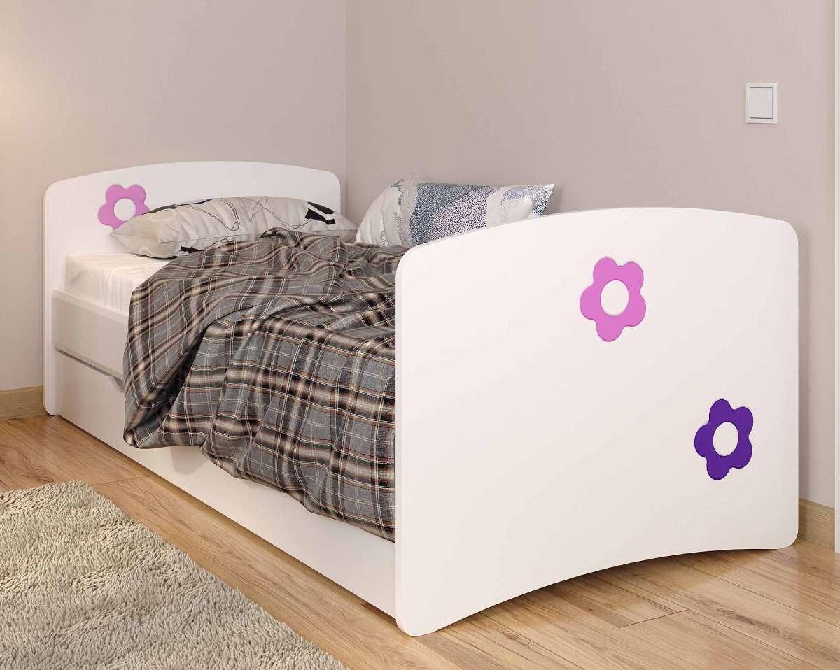 Детская кровать из мдф цветы