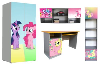 детская мебель в 1 стиле пони нежные
