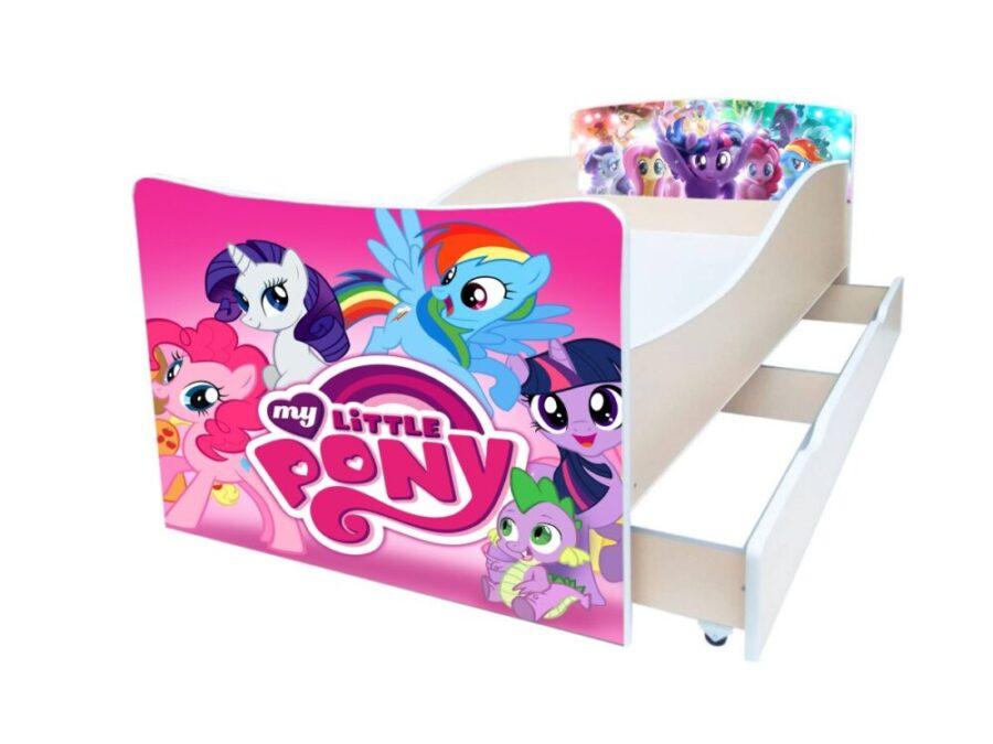 киндер детская кровать маленький пони розовая