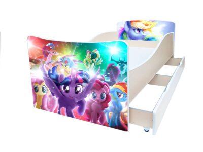 киндер детская кровать пони