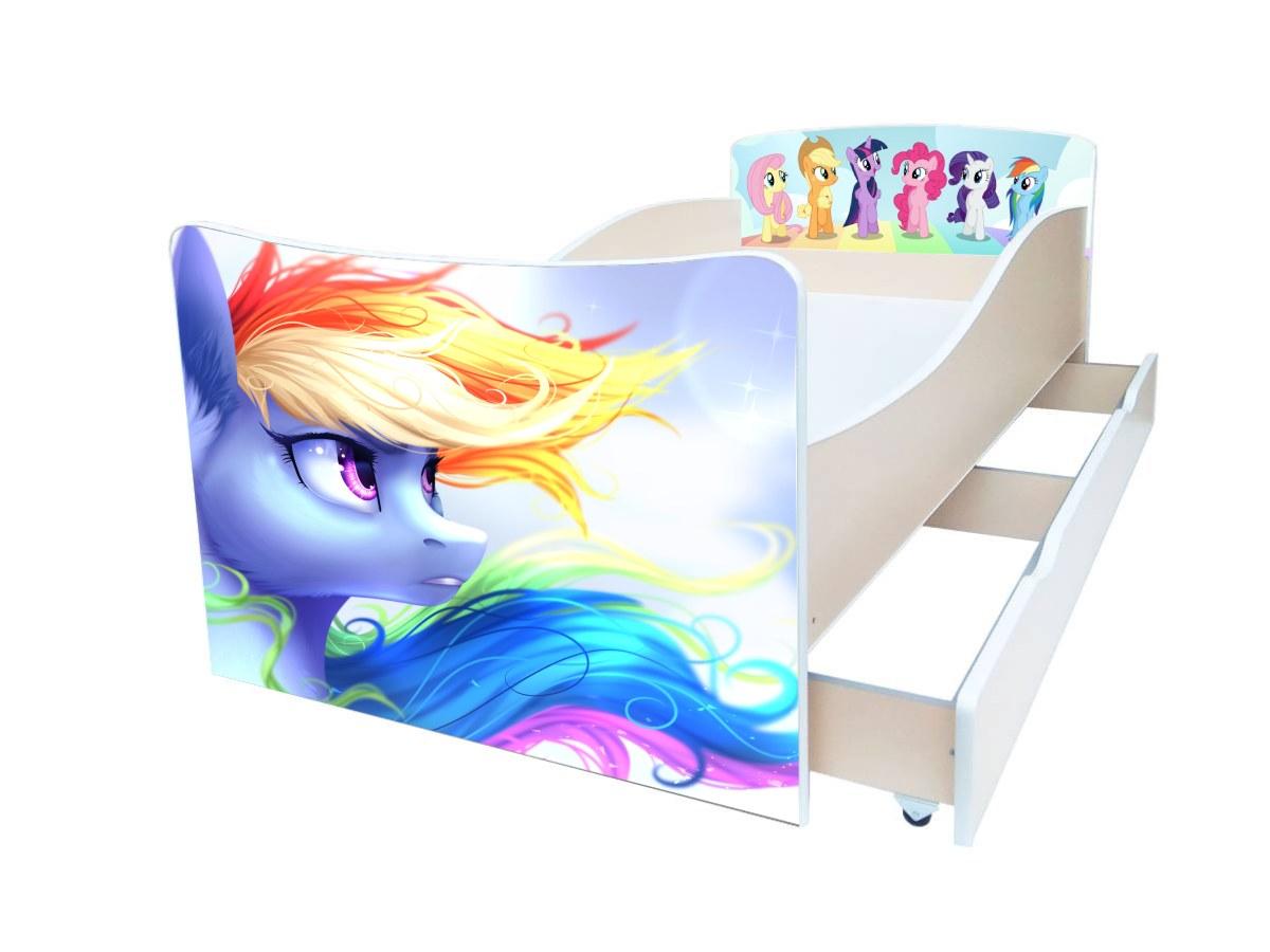 детская кровать киндер my-little-pony