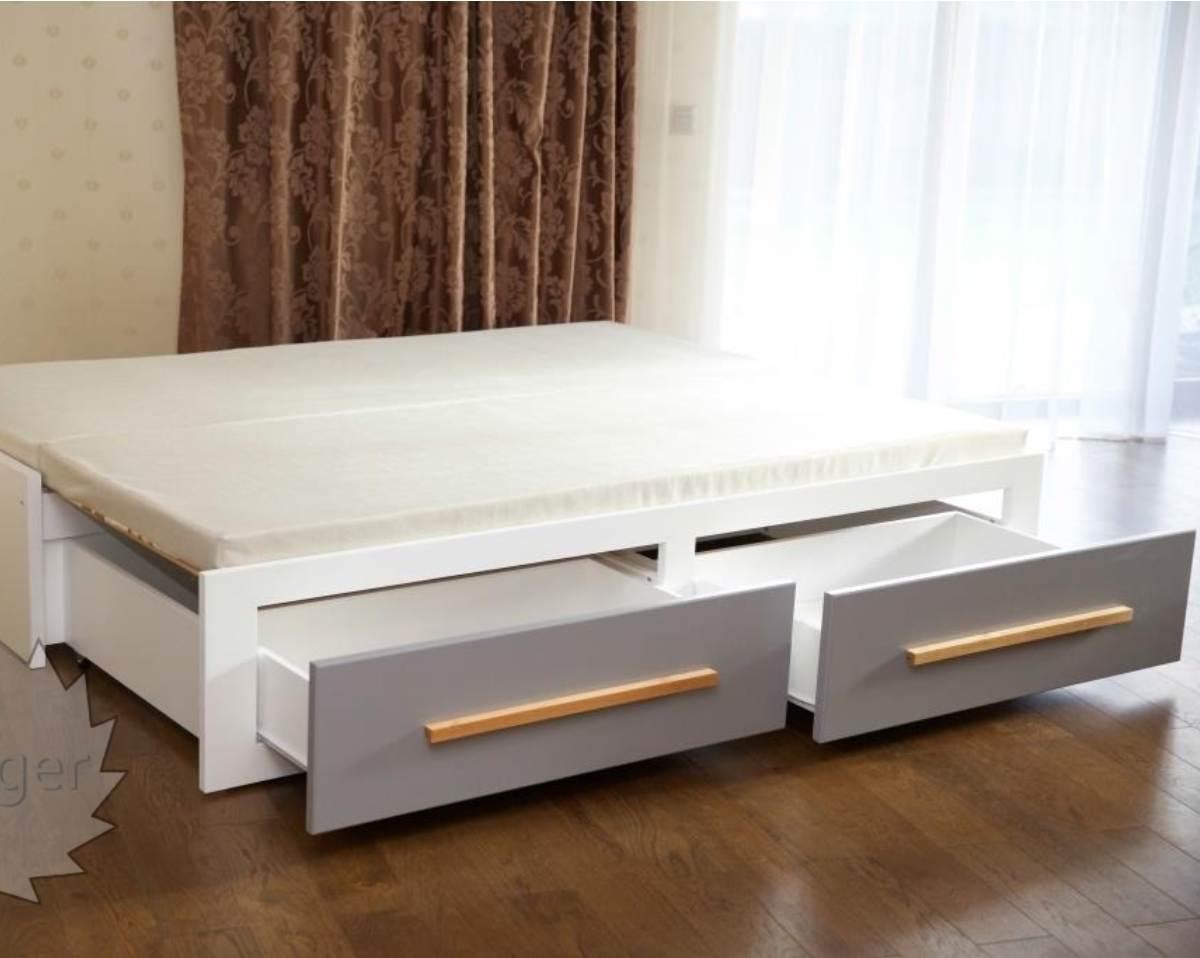 кровать трансформер с дополнительным спальным местом и ящиками