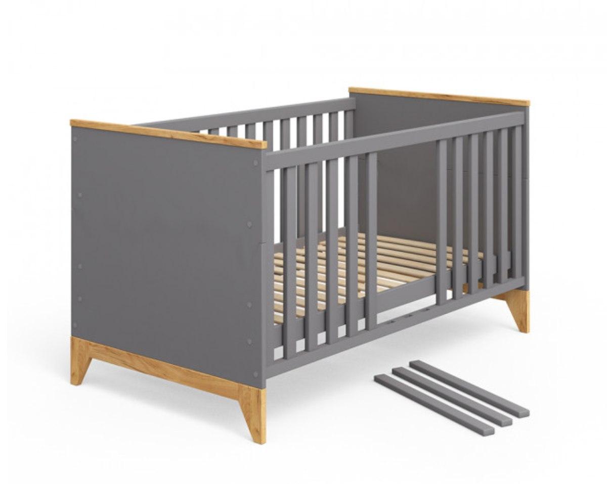 кроватка для новорожденных серого цвета