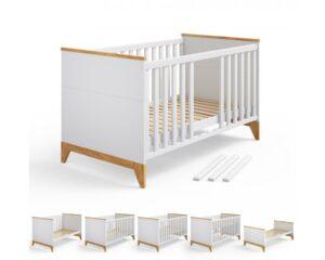 кроватка для новорожденных в белом цвете мила