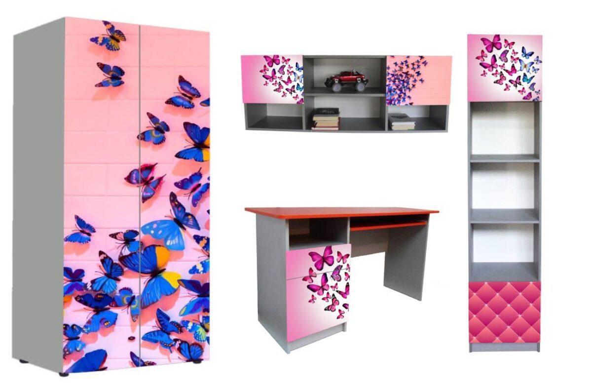 детская мебель в 1 стиле бабочки