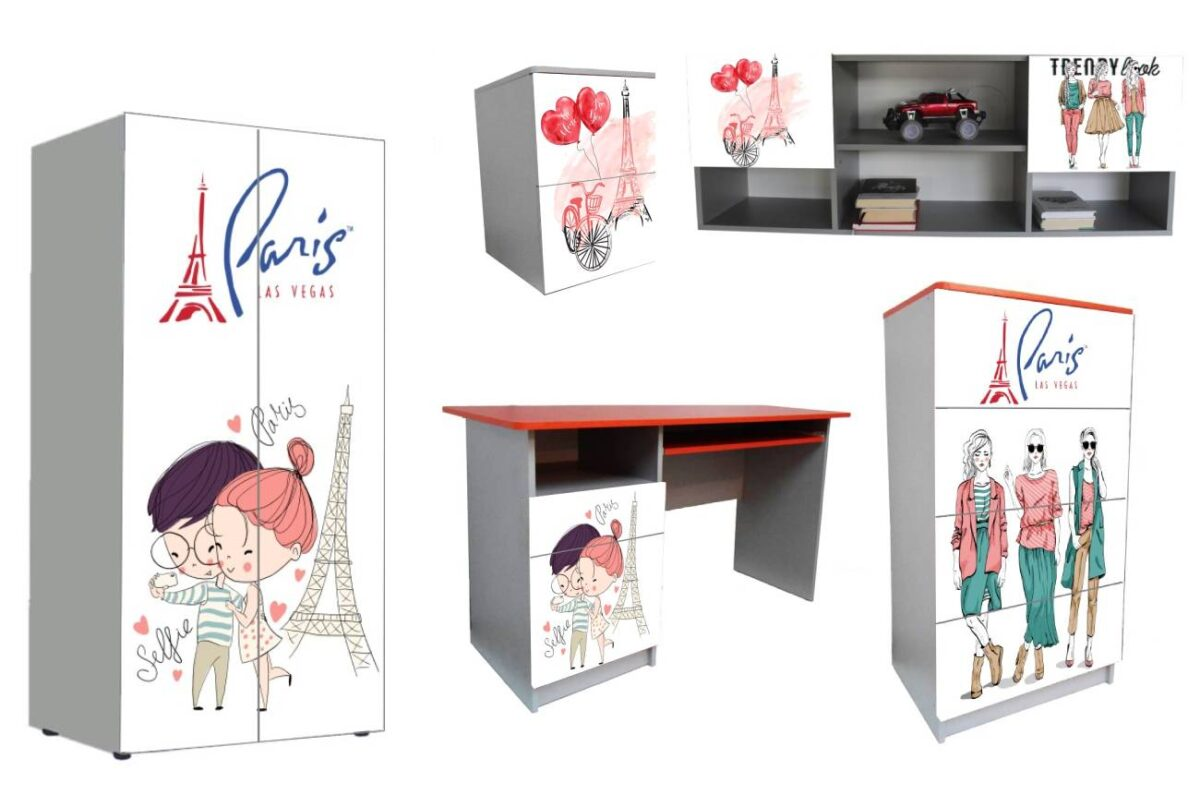 детская мебель в 1 стиле мода париж