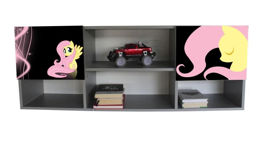 настенная полка в детскую мой маленький пони черные с розовым
