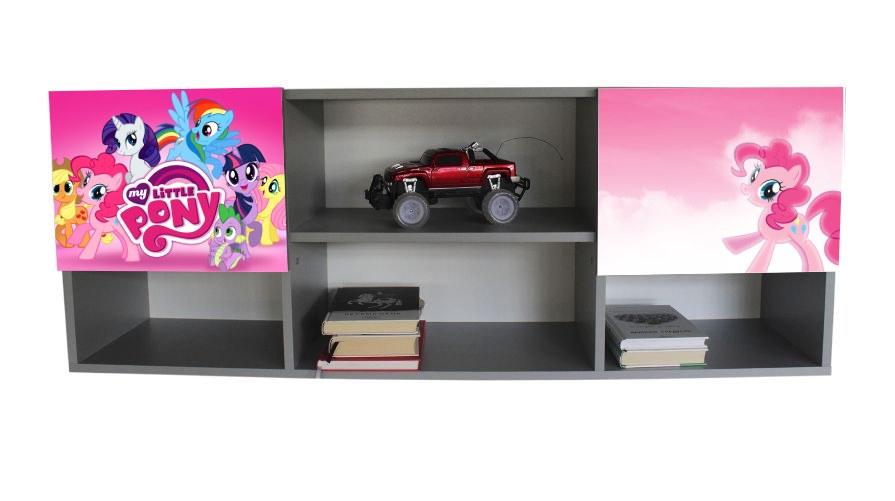 настенная полочка в детскую розовые пони