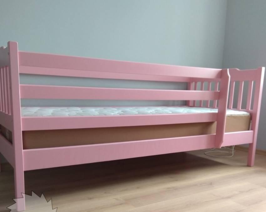 детская кровать розовая ева