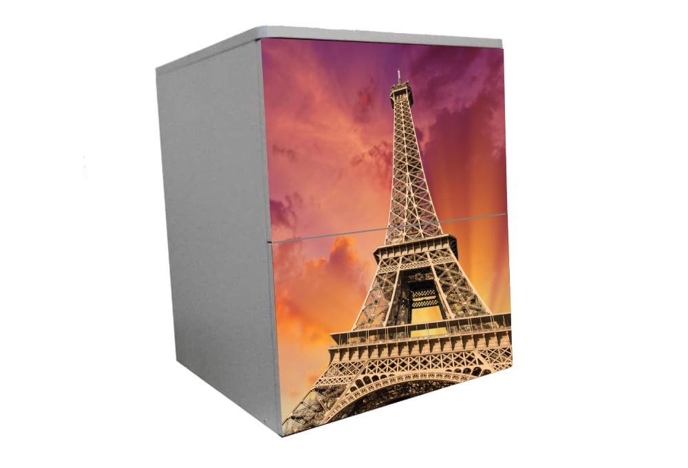 детская тумбочка на 2 ящика розовая башня