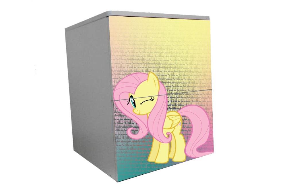 детская тумбочка прикроватная мой маленький пони розовый