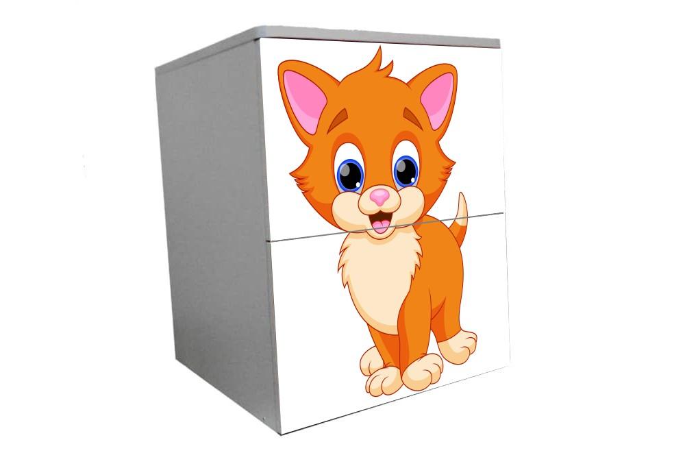 детская тумбочка прикроватная котенок мульт