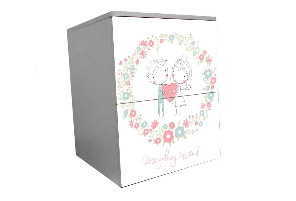 детская тумбочка на 2 ящика гламур свадьба