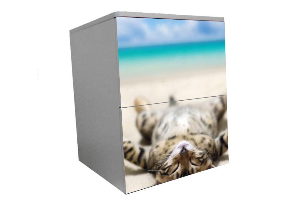 детская тумбочка котик на пляже