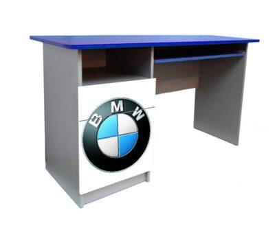 детский письменный стол синий с белым бмв