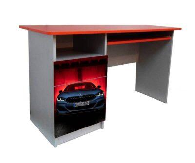 детский письменный стол красный с белым бмв
