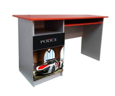 детский письменный стол полиция красный