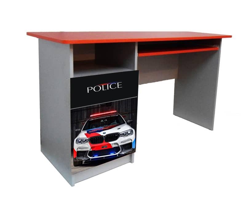 детский письменный стол полиция бмв красная