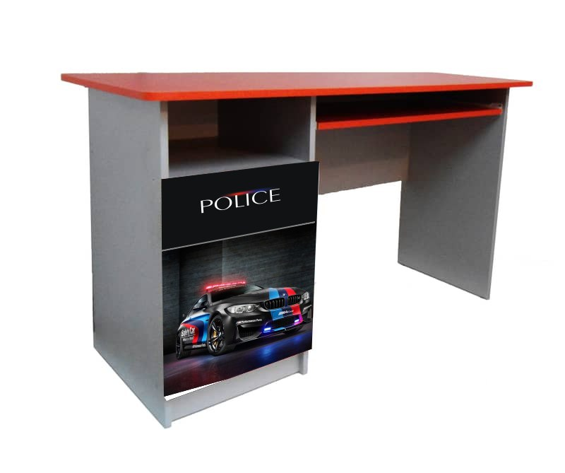 детский письменный стол полиция черная