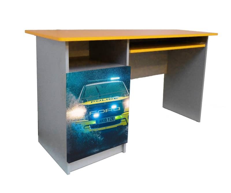 детский письменный стол полиция форд желтый