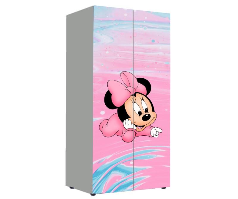 детский шкаф для девочки минни розовый