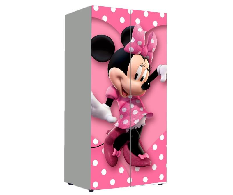 детский шкаф для девочки минни маус розовый