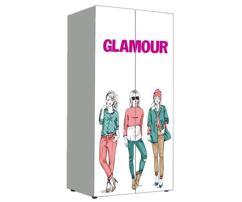детский шкаф для девочек модный гламур