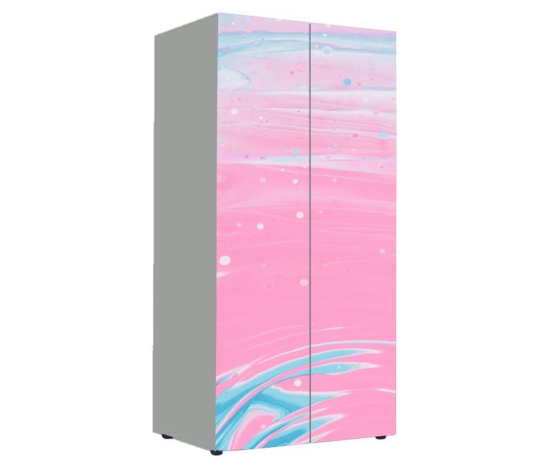 детский шкаф розовый и голубой