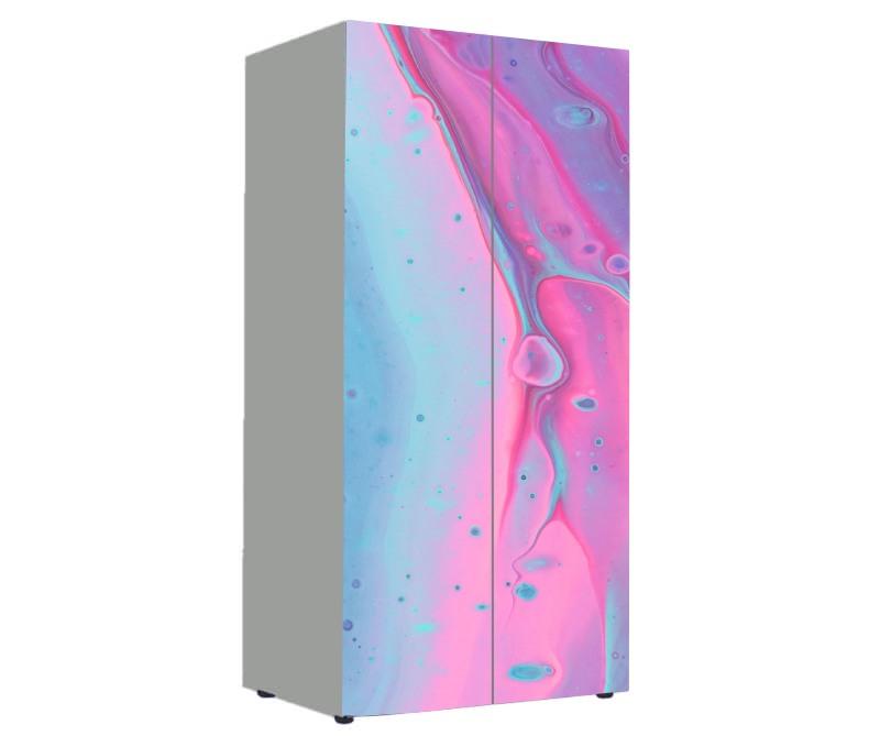 детский шкаф розовый с голубым