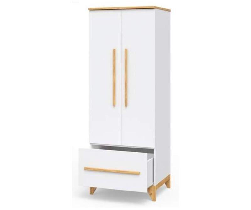 шкаф в детскую белого цвета комбинированный