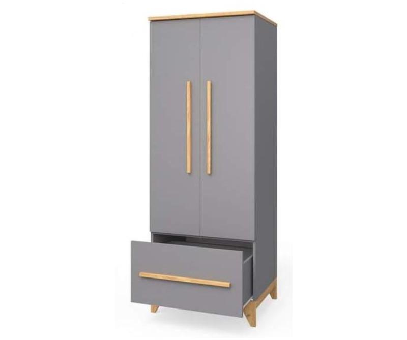 шкаф в детскую цвета мила серый