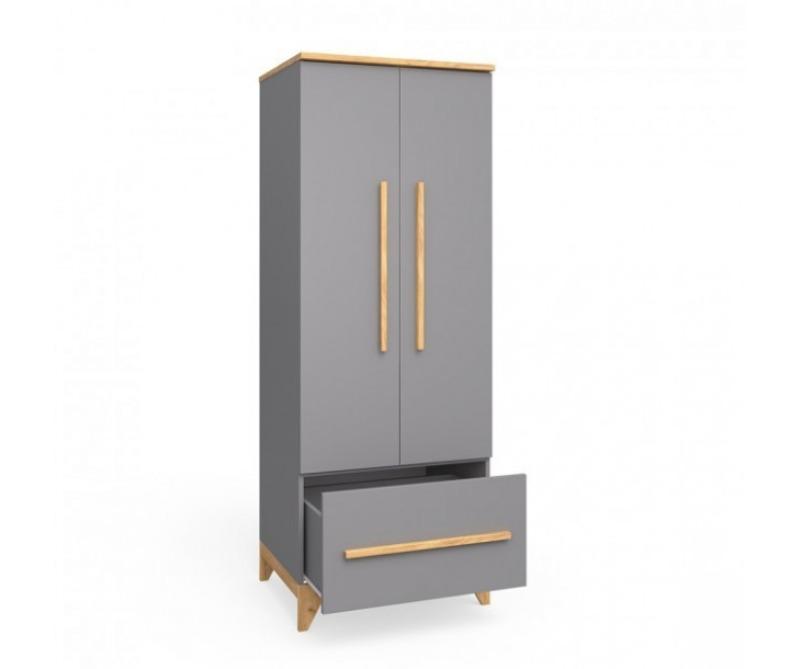 шкаф в детскую серый цвета мила