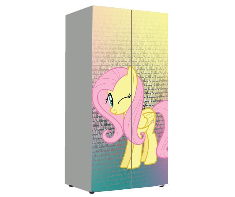 детский шкаф пони розовый
