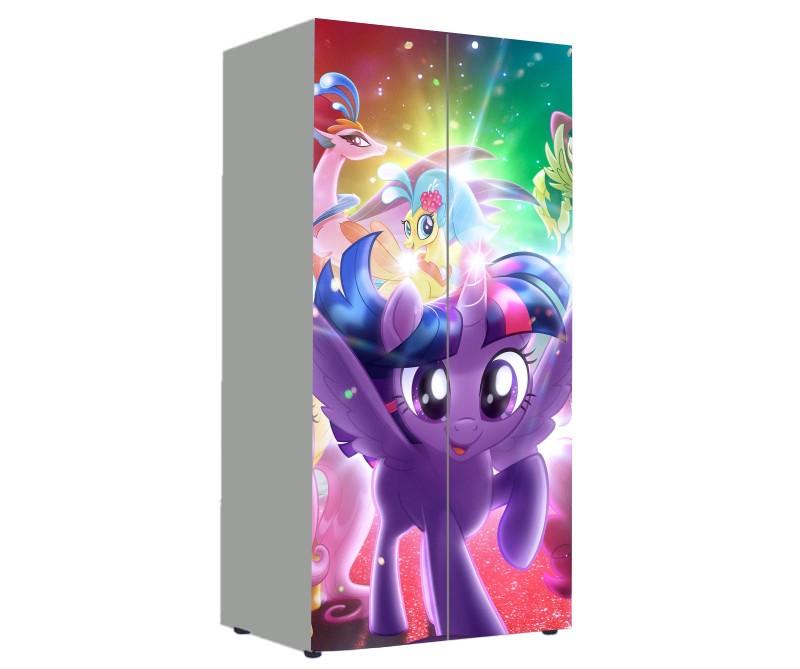 детский шкаф пони фиолетовый