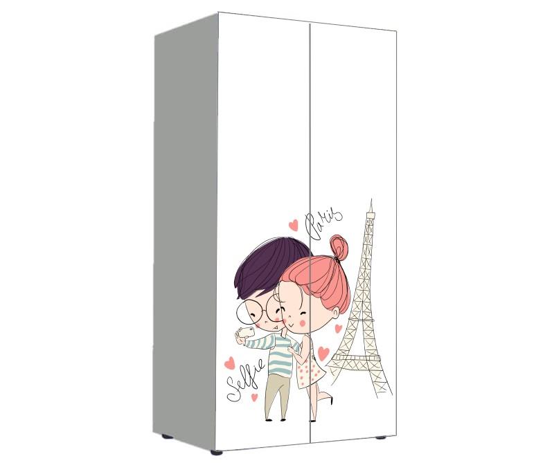 детский шкаф нежный париж