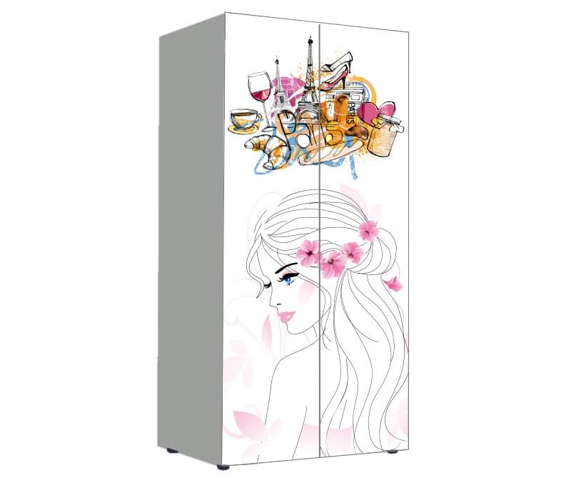 детский шкаф нежный розовый девушка