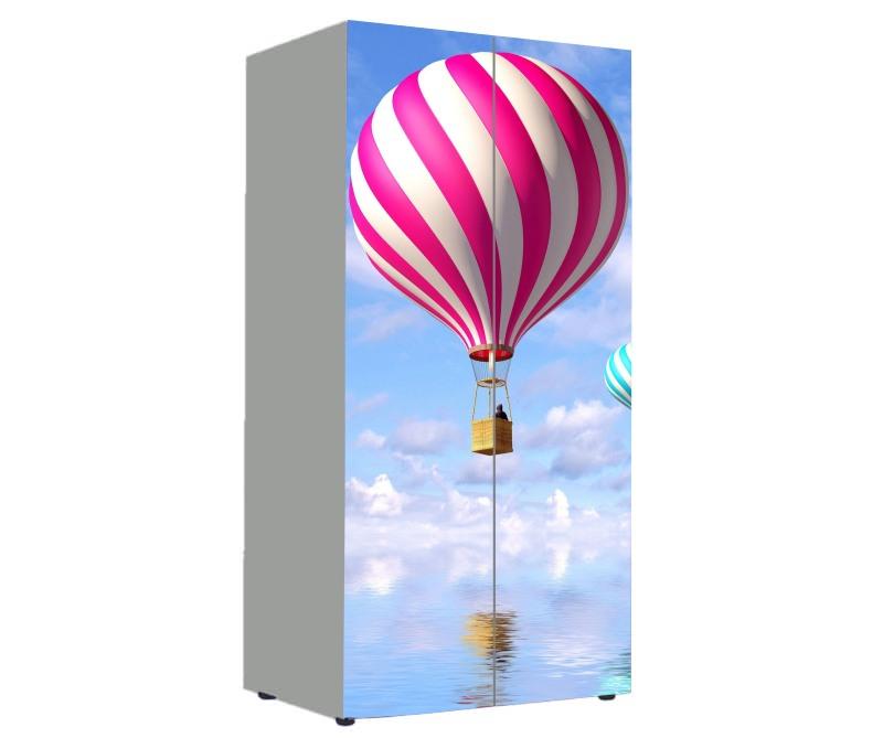 детский шкаф парашют розовый