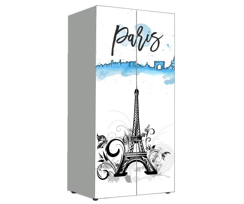 детский шкаф для девочки париж башня