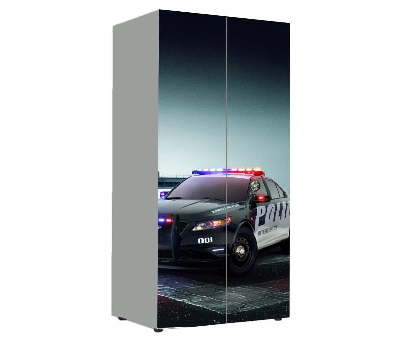детский шкаф полиция черная