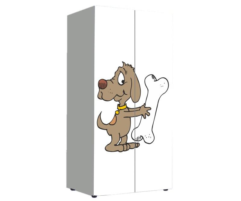 детский шкаф с мультяшной собачкой